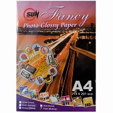 SUN Fancy Photo Paper Glossy 240 Gsm - Pearl [Mutiata] - Kertas Foto / Photo Paper